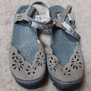 Jambu Grey Covered Toe Comfort Sandals